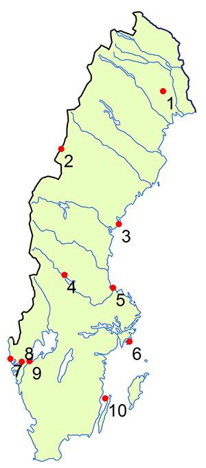 sveriges älvar karta Geologiskt arv 2014 sveriges älvar karta