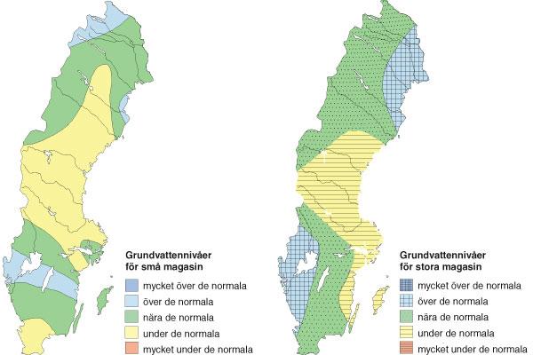höjd över havet karta sverige Grundvattensituationen i maj 2014 höjd över havet karta sverige