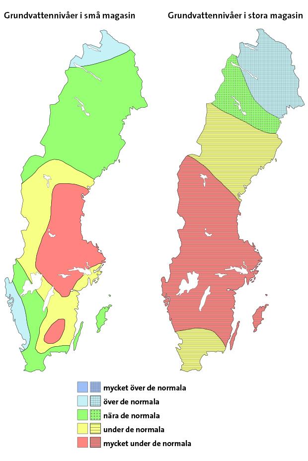 GRUNDVATTENNIVÅER I SMÅ OCH STORA MAGASIN (SGU)