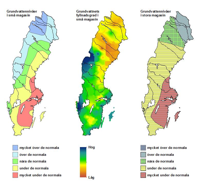 Grundvattennivåer i april.