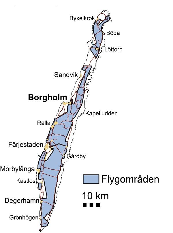 öland karta Flygmätningar för att hitta grundvatten på Öland öland karta