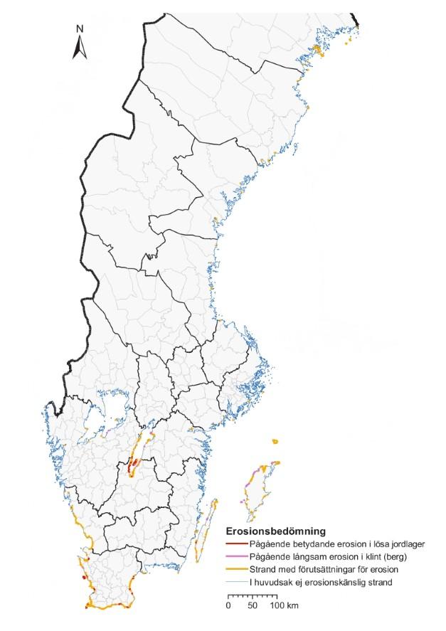 Oversikt Av Sveriges Stranderosion